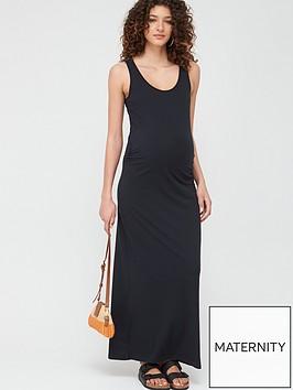 mama-licious-maternity-lea-organic-maxi-dress-black