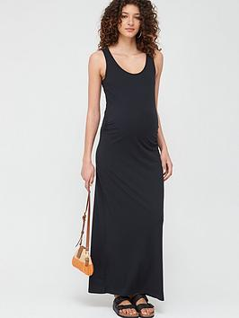 Mama-licious Mama-Licious Maternity Lea Organic Maxi Dress - Black Picture