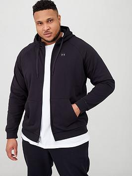 Under Armour Under Armour Plus Size Rival Fleece Full Zip Hoodie - Black Picture