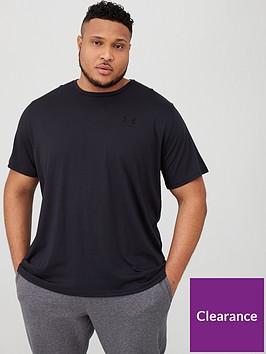 under-armour-plus-size-sportstyle-left-chest-t-shirt-blacknbsp