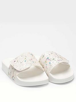 Lelli Kelly Lelli Kelly Girls Glitter Barbara Slider - White Picture