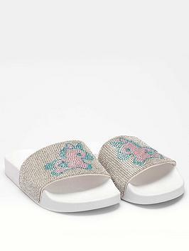 lelli-kelly-girlsnbspcarol-unicorn-slider-silver