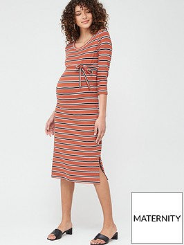 mama-licious-maternity-naya-stripe-jersey-dress-with-tie-belt-multi