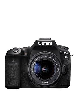 Canon    Eos 90D Slr Camera (Black) With Ef-S 18-55Mm F/3.5-5.6 Is Stm Lens