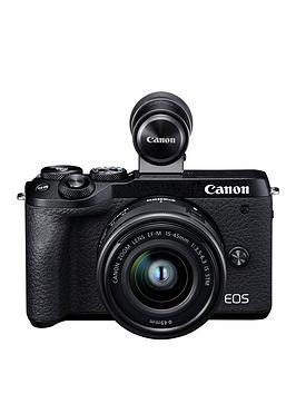 Canon    Eos M6 Mk Ii Csc Camera (Black) With Ef-M 15-45Mm Is Stm Lens &Amp; Evf-Dc2 Viewfinder