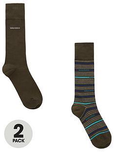 boss-bodywear-2-pack-stripe-socks-khaki