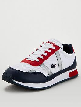 Lacoste Lacoste Partner 120 Lace Up Trainers - White/Navy Picture