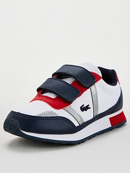 Lacoste Lacoste Partner 120 Strap Trainers - White/Navy Picture