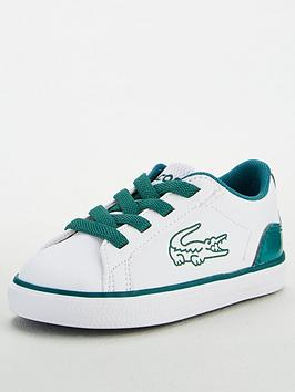 Lacoste Lacoste Infant Boys Lerond 120 Lace Up Trainer - White/Green Picture