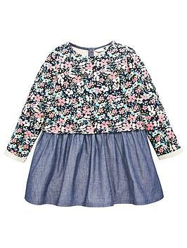 V by Very V By Very Girls Floral Hem Sweat Dress - Multi Picture