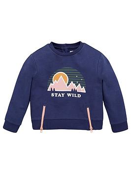 V by Very V By Very Girls 'Stay Wild' Sweatshirt - Navy Picture