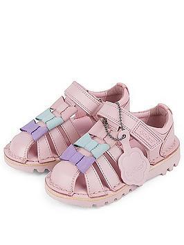 Kickers Kickers Girls Kick Tri Bow Sandal - Pink Picture