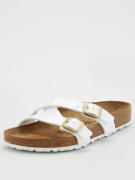 Birkenstock Birkenstock Yao Strappy Slide Flat Sandals - White Picture