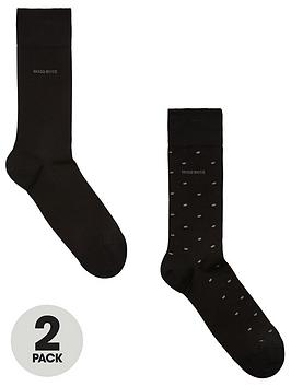 Boss Boss Bodywear 2 Pack Polka Dot Socks - Black Picture