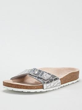 Birkenstock Birkenstock Madrid Metallic Flat Sandals - Silver Picture