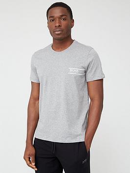 Boss   Bodywear Rn24 Logo Short Sleeve T-Shirt - Grey