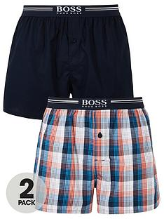 boss-2-pack-bodywear-woven-boxers-navyorange