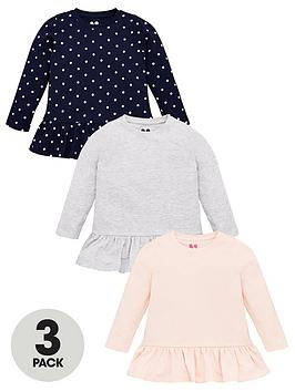 V by Very V By Very Girls 3 Pack Peplum Tops - Multi Picture