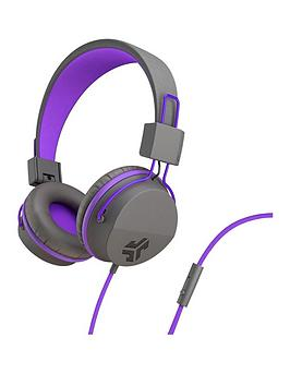 JLAB Jlab Jbuddies Studio Kids Wired Headphones - Grey/Purple Picture