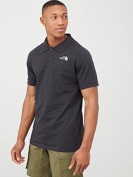 The North Face The North Face Raglan Jersey Polo - Black Picture