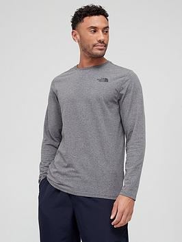 The North Face  Long Sleeve Easy T-Shirt - Medium Grey Heather