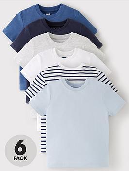 v-by-very-boys-6-pack-short-sleeved-pocket-t-shirts-blue
