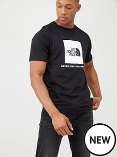 the-north-face-short-sleeve-raglan-redbox-t-shirt-black