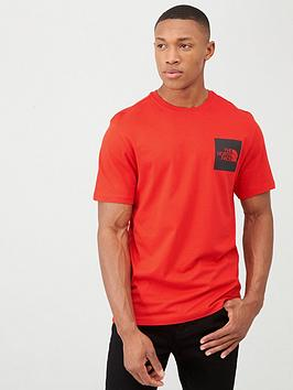 The North Face Short Sleeve Fine T-Shirt - Red