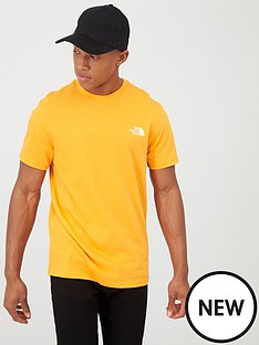 the-north-face-short-sleeve-simple-dome-t-shirt-orange