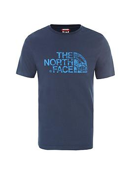 The North Face The North Face Short Sleeve Woodcut Dome T-Shirt - Blue Picture