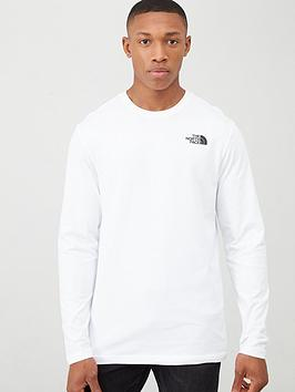 The North Face The North Face Long Sleeve Red Box T-Shirt - White Picture