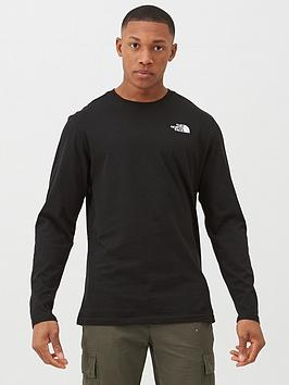 The North Face Long Sleeve Red Box T-Shirt - Black/Red