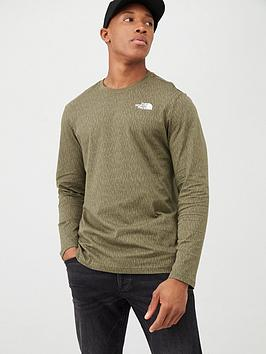 The North Face The North Face Long Sleeve Red Box T-Shirt - Olive Picture
