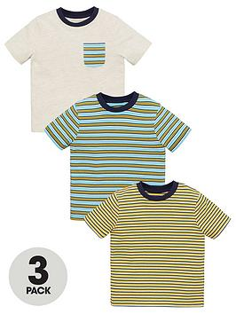 V by Very V By Very Boys 3 Pack Striped Tees Picture