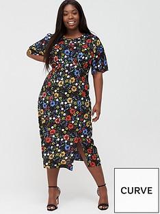 v-by-very-curve-angel-sleeve-viscose-midi-dress-ditsy-print