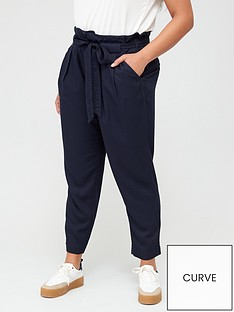 v-by-very-curve-twill-cargo-trousers-navy