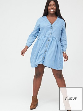 v-by-very-curve-relaxed-fit-dress-blue