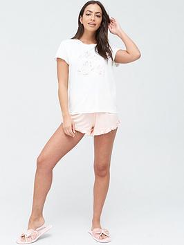 chelsea-peers-bridal-short-pyjama-set-pink