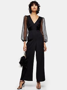 topshop-organza-jumpsuit-black