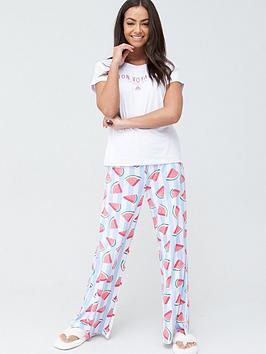 chelsea-peers-wide-leg-pant-watermelon-print-resort-pyjama-setnbsp--multi