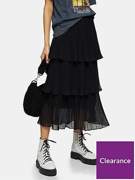 topshop-tiered-pleat-midi-skirt-black