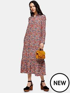 topshop-smock-peplum-midi-shirt-dress-multi