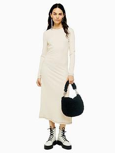 topshop-topshop-contrast-stitch-rib-midi-dress-ecru