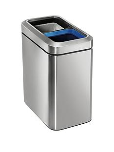 simplehuman-dual-compartment-20-litre-open-bin