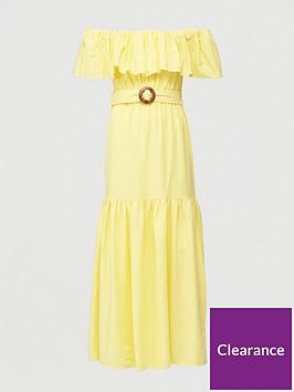 v-by-very-frill-bardot-maxi-dress-yellow
