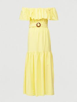 V by Very V By Very Frill Bardot Maxi Dress - Yellow Picture