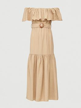 V by Very V By Very Frill Bardot Maxi Dress - Sand Picture