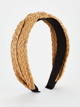 V by Very V By Very Raffia Knot Hairband - Brown Picture