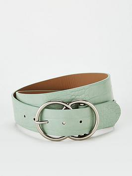 V by Very V By Very Lydia Double Buckle Belt - Mint Picture