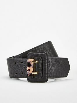 V by Very V By Very Resin Trim Wide Waist Belt - Black Picture